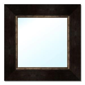 PTM Images 18.5 in. x 18.5 in. Dark Brown Polystyrene Framed Mirror 6 0514