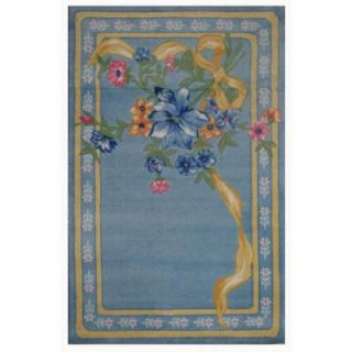 LA Rug Inc. Supreme Flower Ribbon Multi Colored 39 in. x 58 in. Area Rug TSC 214 3958