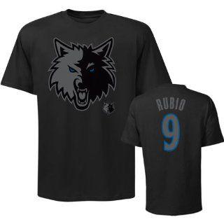 Majestic Ricky Rubio Minnesota Timberwolves Youth Black Friday Player T Shirt   Black  Sports Fan T Shirts  Sports & Outdoors