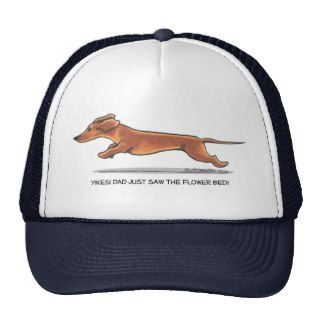 Funny Dachshund Dad Mens Baseball Cap Trucker Hats