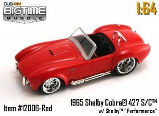 Jada Dub City Big Time Muscle Red 1965 Ford Mustang 1:64 Scale Die Cast Car: Toys & Games
