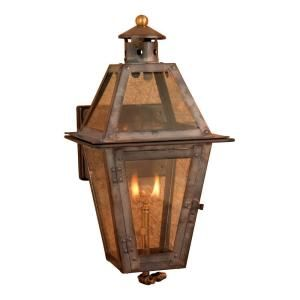 Titan Lighting Maryville 36 in. Outdoor Washed Pewter Gas Wall Lantern TN 7900