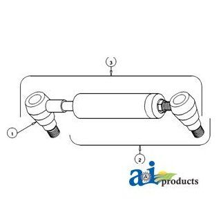 A & I Products Universal PS Cylinder w/ Both Ends (RH/LH) Replacement for Ford   New Holland Part Number E2NN3A540BA Industrial & Scientific