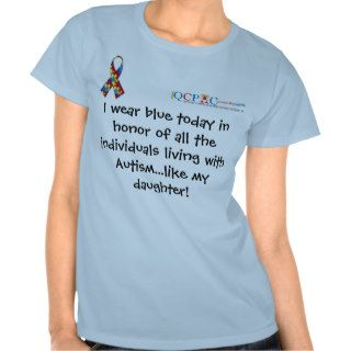 QCPAC logo Blue World Autism Awareness T shirt