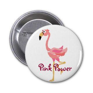 WW  Funny Flamingo Primitive Art Cartoon Pin