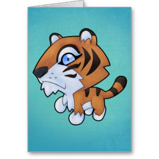 Cute Cartoon Tiger Greeting Cards