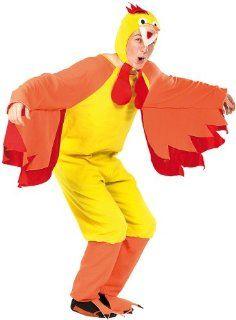 """infactory Faschings Kostüm """"Funny Chicken"""", für Erwachsene bis 185 cm: Spielzeug"""
