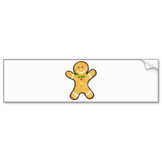 Cute gingerbread man cookie bumper stickers