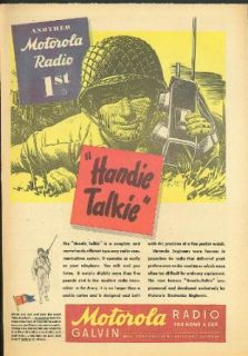 Another Motorola Radio 1st Handie Talkie ad 1944 Walkie Talkie: Entertainment Collectibles