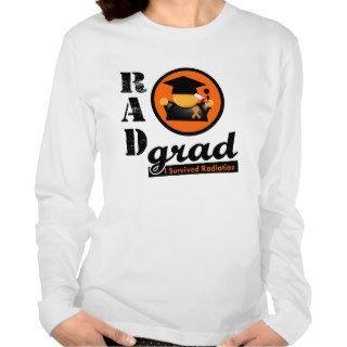 Radiation Grad KIDNEY CANCER Orange Ribbon T shirt