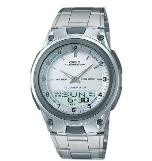 New Casio Ana Digi Dual Time Data Bank Watch with World Time, Alarm, Timer and More SI1764
