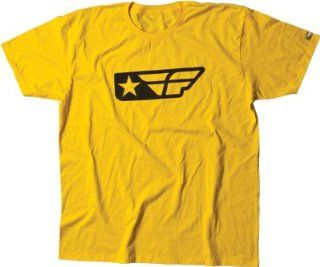 FLY F STAR TEE YELLOW L, FLY Part Number 352 0053L WPS, Stock photo   actual parts may vary. Automotive