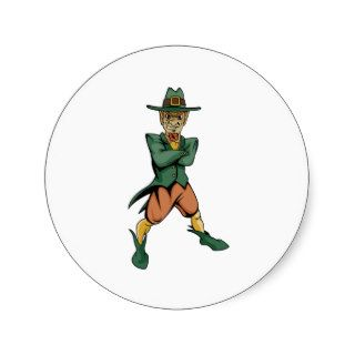Evil Leprechaun Round Stickers