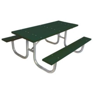 Ultra Play 6 ft. Blue Commercial Park Recycled Plastic Portable Table and Surface Mount G238 GRN6