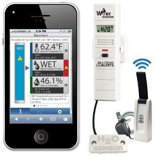 La Crosse Alerts D112.104.E1.WGB Wireless Monitor System Set with Water Leak Probe   Weather Stations