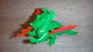 VINTAGE LEGO GREEN CASTLE KNIGHTS DRAGON MINIFIGURE, LEGO GREEN DRAGON MINI FIGURE Toys & Games