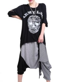 ELLAZHU Women Oversized Baggy Skull Venetian Pearl T shirt Shirt Onesize GY131 Novelty Hoodies Clothing