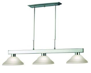 Z Lite 152BN SW12 Cobalt Three Light Billiard, Metal Frame, Brushed Nickel Finish and White Swirl Shade of Glass Material   Ceiling Pendant Fixtures