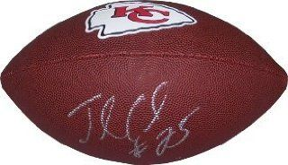 Jamaal Charles signed Kansas City Chiefs Brown Logo Football: Sports Collectibles
