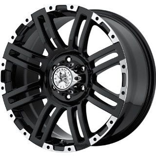 "American Outlaw Bunker Black Machined Face Wheel with Machined Finish (20x9""/6x139.7mm) Automotive"