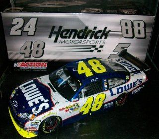Action 1/24 Jimmie Johnson #48 Lowe's Gatorade Twin 150 Duel #1 Raced Win 2010 Chevy Impala Hood, Trunk Opens Car of Tomorrow COT Rear Wing Front Splitter Only 638 Made Individually Serialized Less than 15 per state Toys & Games