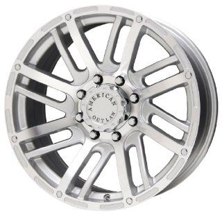 "American Outlaw Spur Series Silver Wheel (20x9""/8x165.1mm) Automotive"