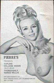 COLLECTIBLE POST CARD: PIERRE'S PRESENTS TOPLESS COLLEGE COEDS : Everything Else