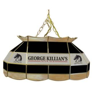 Trademark Global Killians 28 in. Stained Glass Pool Table Lamp KL2800