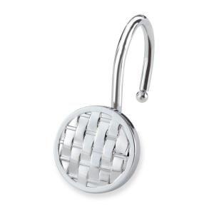 Elegant Home Fashions Woven Shower Hooks in Chrome (12 Pack) HDHK112