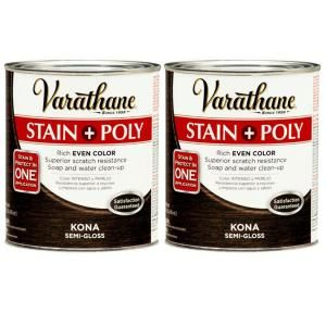 Varathane 1 Qt. Kona Wood Stain and Polyurethane (2 Pack) DISCONTINUED 207096