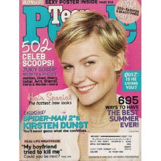 KIRSTEN DUNST TEEN PEOPLE AUGUST 2004 SPIDERMAN 2 MY BOYFRIEND TRIED TO KILL ME!: TEEN PEOPLE MAGAZINE: Books