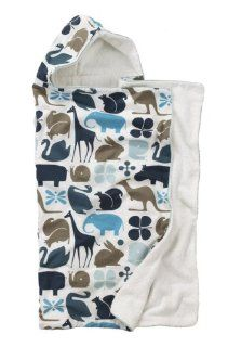 DwellStudio Baby Gio Hooded Towel, Aqua : Hooded Baby Bath Towels : Baby
