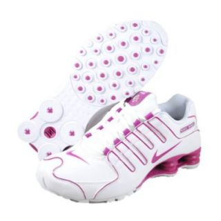 Womens Nike Shox NZ Running Shoes White / Rave Pink 314561 196 Size 10.5: Sports & Outdoors