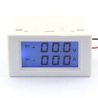 DROK Digital Readout Voltage/Curren Panel Meter 2in1 LCD Display 0 199.9V/200A VA Voltmeter Gauge Amps   Voltage Testers