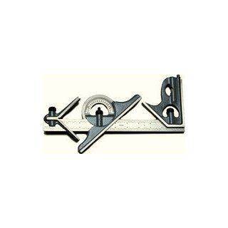 "Combination Squares   4 Piece Combination Square Sets (PEC USA Series 233) 4R Grad. 12"" Blade Hardened Set: Carpentry Squares: Industrial & Scientific"