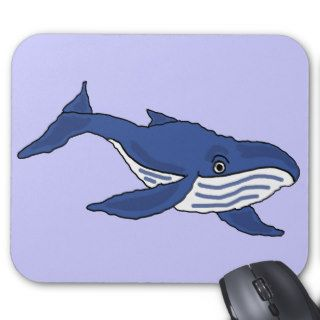 AW  Blue Whale Cartoon Mousepad