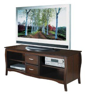"Brighton 60"" TV Stand with Side Folding Construction (Walnut) (24.00""H x 60.00""W x 20.00""D)"