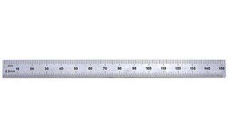 "PEC Tools 261 006 6"" Inch/MM USA Flexible Steel Rule, reads 32nds, 64ths, 1mm, 1/2mm.   Precision Measurement Rules"