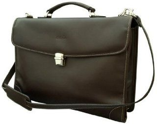 del rio Leathers Brown Briefcase 3 compartment Executive & Office DR137801  From Costa Rica: Office Products