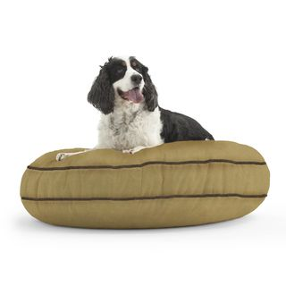 DogSack Round Memory Foam Tan Microsuede Pet Bed PetSack Other Pet Beds