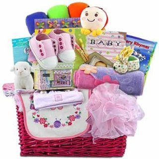 Grand Baby Girl Gift Basket  Baby Gifts Baskets Newborn  Grocery & Gourmet Food