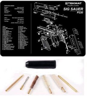 Ultimate Arms Gear Sig Sauer P220 Complete Pistol Armorer Kit Includes Gunsmith Cleaning Work Tool Bench Gun Mat + Compact Pocket Sized Travelling Cleaning Kit For .38, .357, 9mm Caliber Pistol Handgun  Gunsmithing Tools And Accessories  Sports & Ou