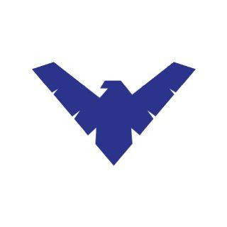 "(2x) 5"" Nightwing Kryptonian Logo Sticker Vinyl Decals: Automotive"