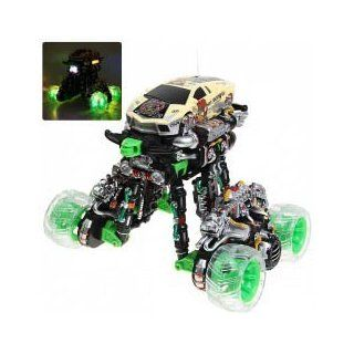 NO.666 366 New 1:18 R/C 4WD Eddy Drift Car Dancing with Music Simulation Stunt Flip 360 Spin Somersault: Toys & Games