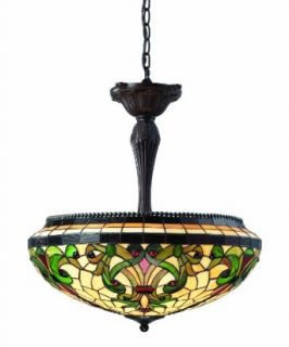 Z Lite Z22 34P Templeton Three Light Pendant, Metal Frame, Chestnut Bronze Finish and Multi Color Tiffany Shade of Glass Material   Ceiling Pendant Fixtures