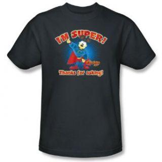 Garfield SUPER Short Sleeve Adult Tee CHARCOAL T Shirt Clothing