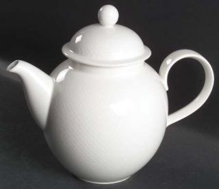 Villeroy & Boch Tipo White Coffee Pot & Lid, Fine China Dinnerware   White Dots/