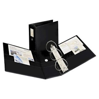 Avery Durable Binder with Two Booster EZD Rings, 5 Capacity   Black