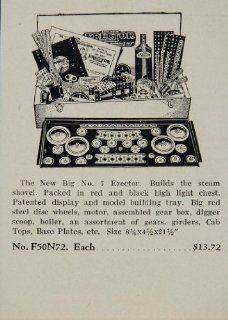 1933 Ad Erector New Big Set No. 7 Steam Shovel Motor   Original Print Ad
