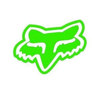 "(2x) 5"" Fox Racing Fox Logo Solid Face   Vinyl Decal Sticker LIME GREEN: Everything Else"